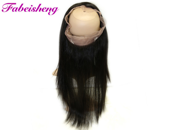 Natural Black Straight 360 Lace Frontal Closure Virgin Brazilian Hair Weave